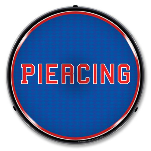 Piercing LED Lighted Business Sign 14 x 14 Inches