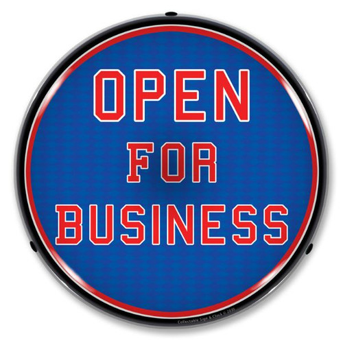 Open For Business LED Lighted Business Sign 14 x 14 Inches