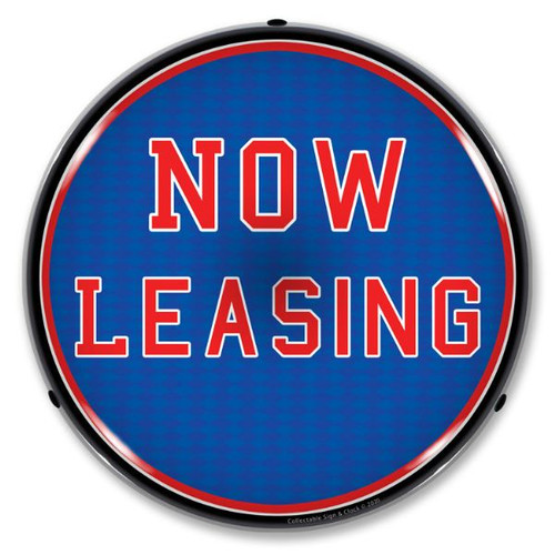 Now Leasing LED Lighted Business Sign 14 x 14 Inches