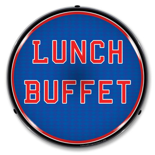 Lunch Buffet LED Lighted Business Sign 14 x 14 Inches
