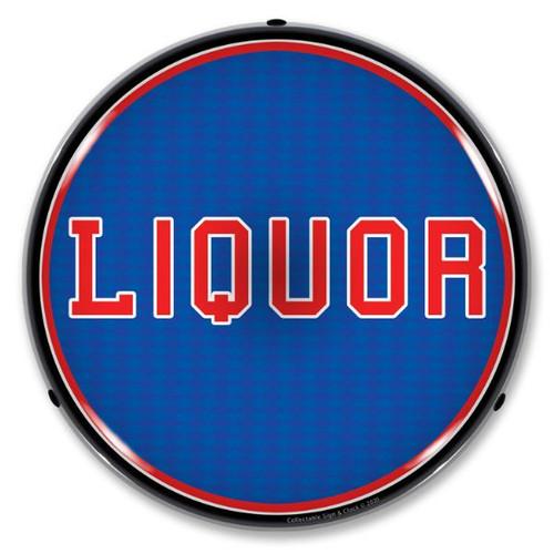 Liquor LED Lighted Business Sign 14 x 14 Inches