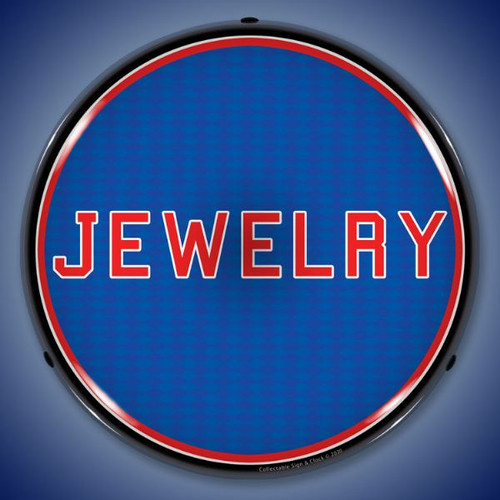 Jewelry LED Lighted Business Sign 14 x 14 Inches