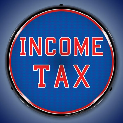 Income Tax LED Lighted Business Sign 14 x 14 Inches