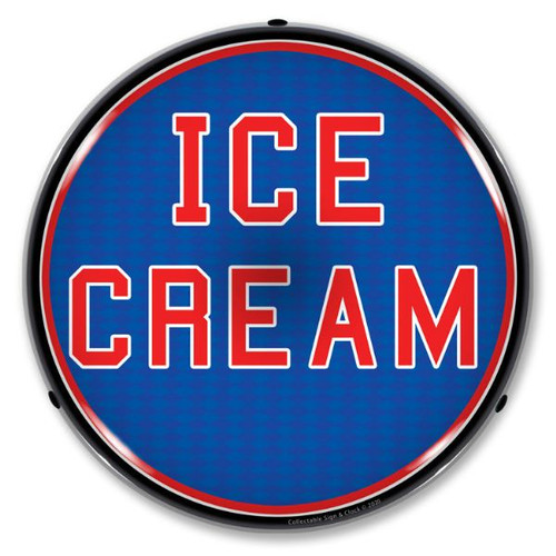 Ice Cream LED Lighted Business Sign 14 x 14 Inches