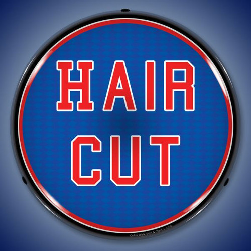 Hair Cut LED Lighted Business Sign 14 x 14 Inches