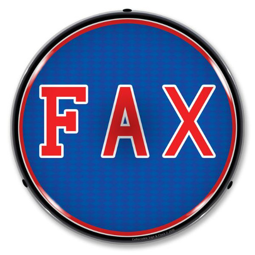 Fax LED Lighted Business Sign 14 x 14 Inches