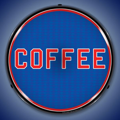 Coffee LED Lighted Business Sign 14 x 14 Inches