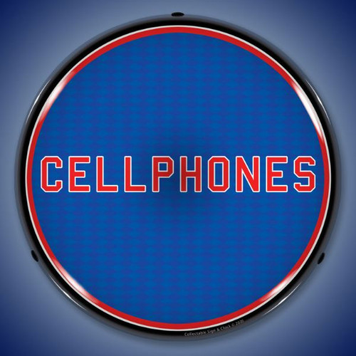 Cellphones LED Lighted Business Sign 14 x 14 Inches