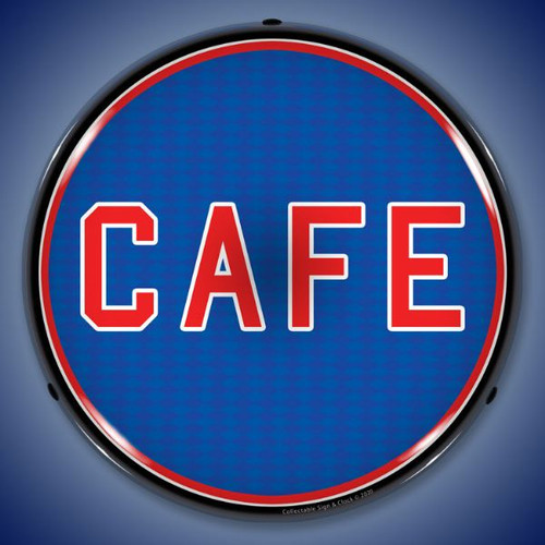 Cafe LED Lighted Business Sign 14 x 14 Inches