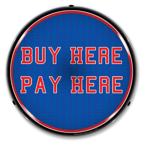 Buy Here Pay Here LED Lighted Business Sign 14 x 14 Inches