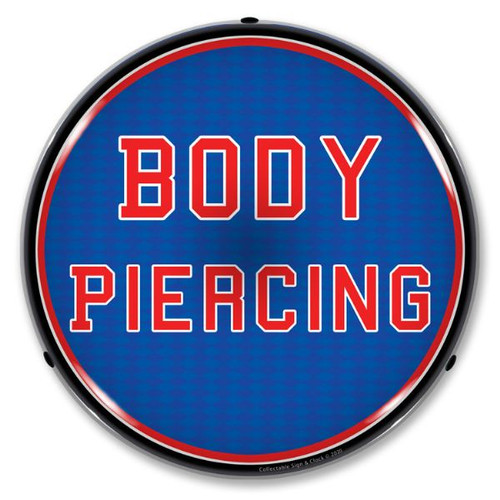 Body Piercing LED Lighted Business Sign 14 x 14 Inches