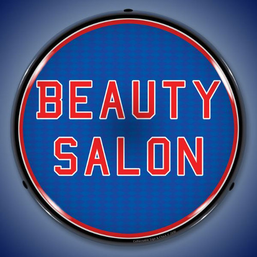 Beauty Salon LED Lighted Business Sign 14 x 14 Inches