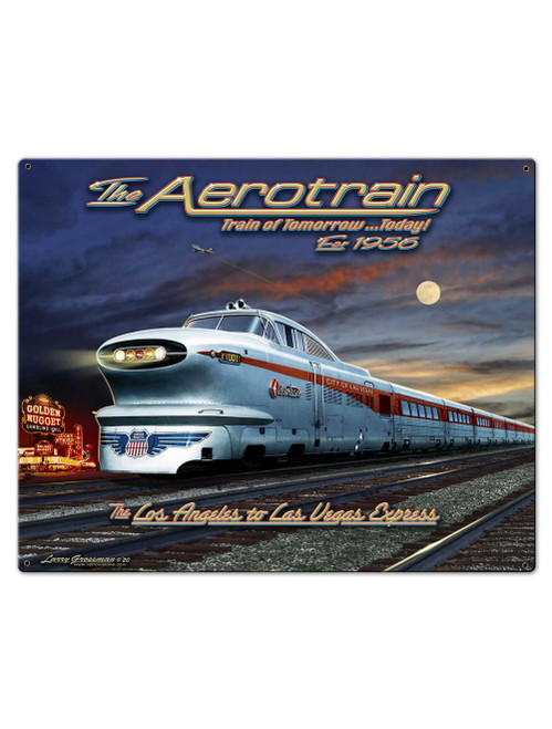 Train of Tomorrow Metal Sign 30 x 24 Inches