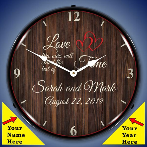 Personalized Love Like Ours LED Lighted Wall Clock 14 x 14 Inches