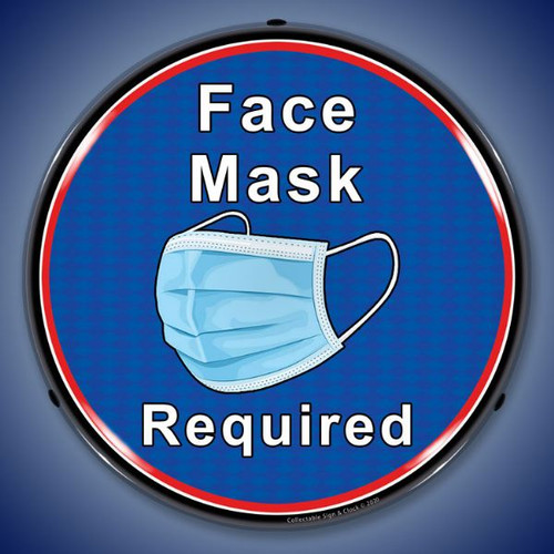 Face Mask Required LED Lighted Business Sign 14 x 14 Inches