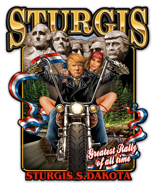 Sturgis Rally Metal Sign 14 x 17 Inches