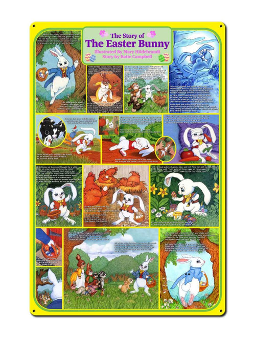 The Story Of The Easter Bunny Metal Sign 24 x 36 Inches