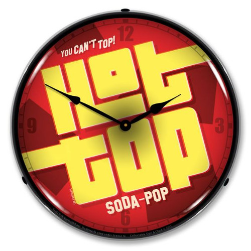 Hot Top Soda LED Lighted Wall Clock 14 x 14 Inches