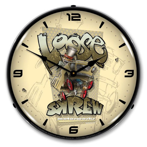 Loose Skrew LED Lighted Wall Clock 14 x 14 Inches