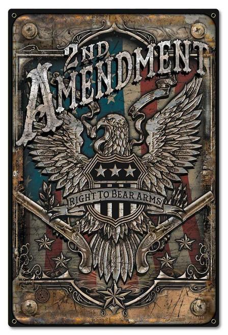 2nd Amendment Metal Sign 16 x 24 Inches
