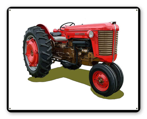Massey Harris Tractor Metal Sign 15 x 12 Inches