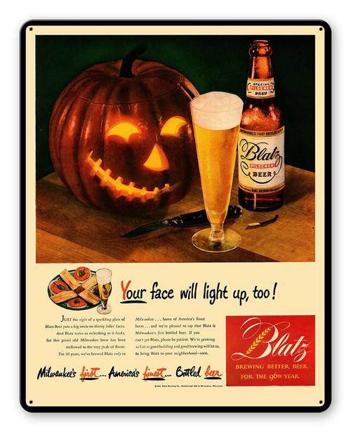 Rick Blatz Beer Metal Sign 12 x 15 Inches