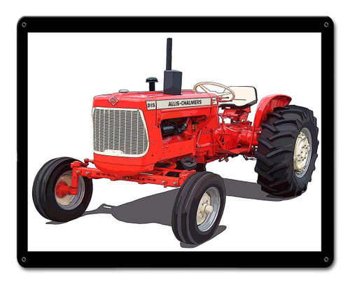 Allis Chalmers D15 Metal Sign 15 x 12 Inches