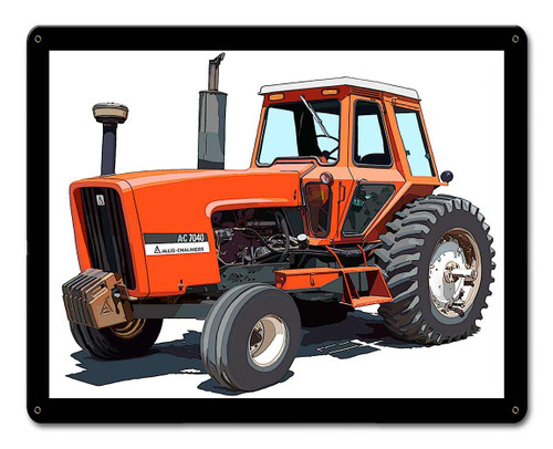 Allis Chalmers AC 7040 Metal Sign 15 x 12 Inches
