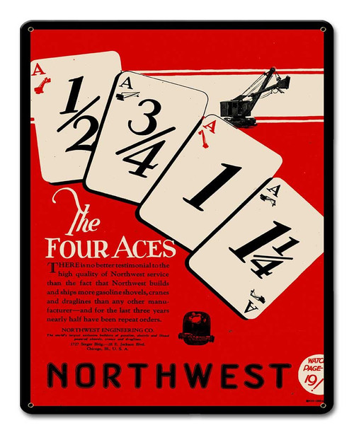 Northwest Cards Metal Sign 12 x 15 Inches