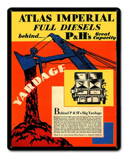 Atlas Imperial Metal Sign 12 x 15 Inches
