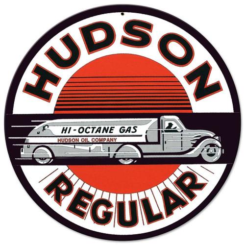 Hudson Regular Metal Sign 14 x 14 Inches