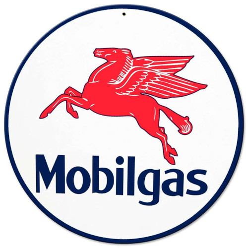 Mobil Gas Metal Sign 14 x 14 Inches