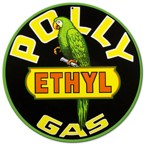 Polly Gas Metal Sign 14 x 14 Inches