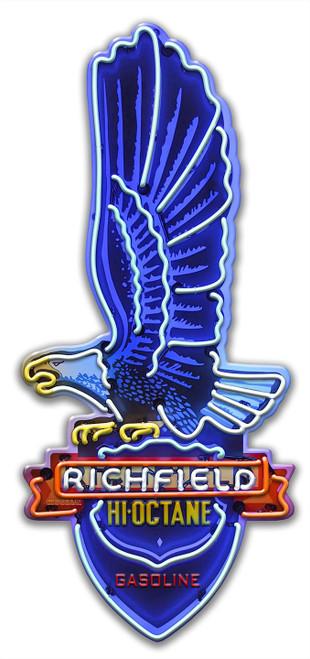 Richfield Custom Shape Metal Sign
