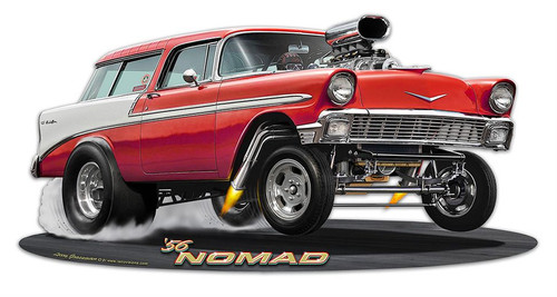 1956 Nomad Gasser Metal Sign 18 x 9 Inches