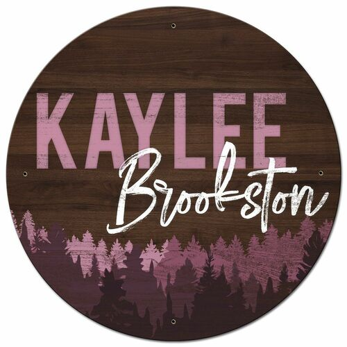 Nursery Metal Sign Pink - Personalized 28 x 28 Inches