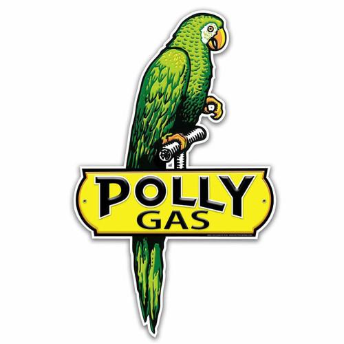 Retro Polly Gas Custom Shape Metal Sign 17 x 28 Inches
