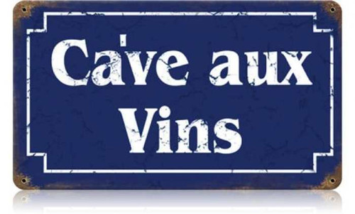 Wine Cellar Metal Sign 14 x 8 Inches