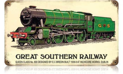 Vintage Great Southern Railway Metal Sign 14 x 8 Inches