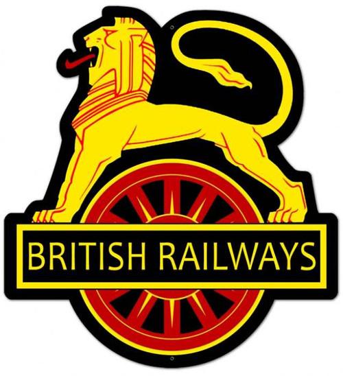 Retro British Railways Metal Sign 18 x 21 Inches