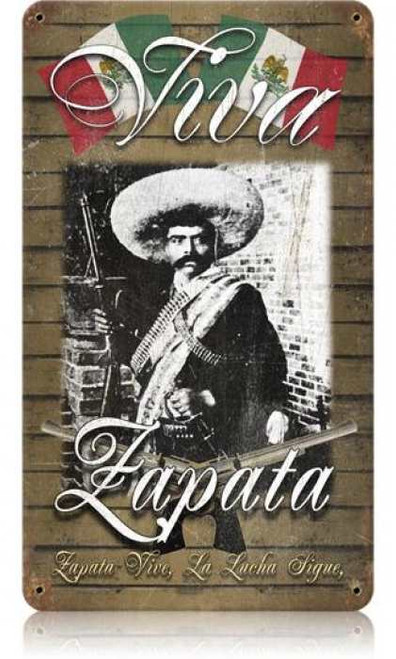 Zapata Metal Sign 14 x 8 Inches
