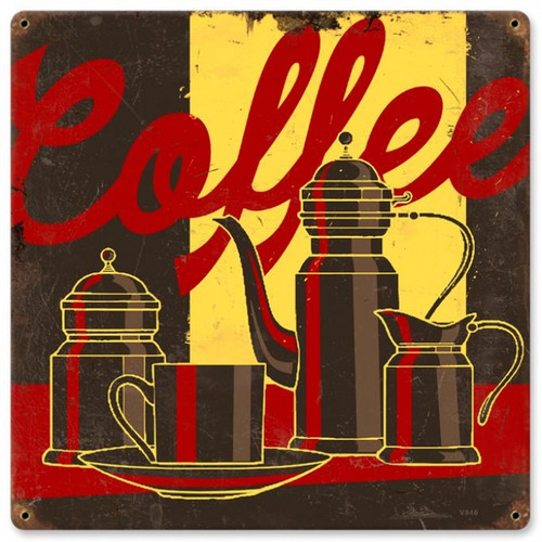 Vintage Coffee Metal Sign V946 12 x 12 Inches