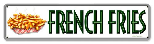 Retro French Fries Metal Sign 2
