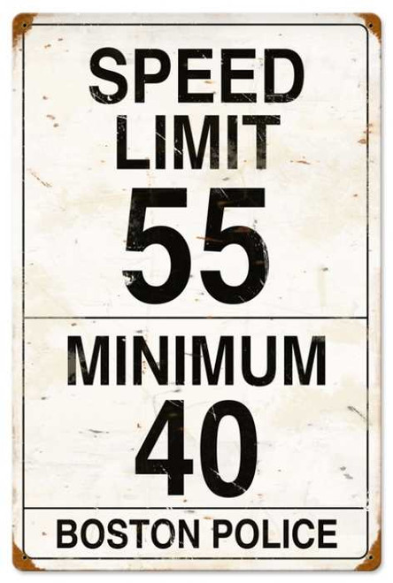 Retro Speed Limit 55 Metal Sign 16 x 24 Inches