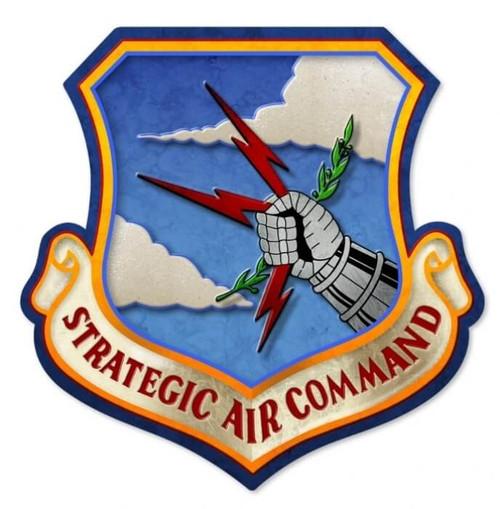 Retro Strategic Air Command Metal Sign 17 x 17 Inches