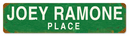 Retro Joey Ramone Place Metal Sign 20 x 5 inches