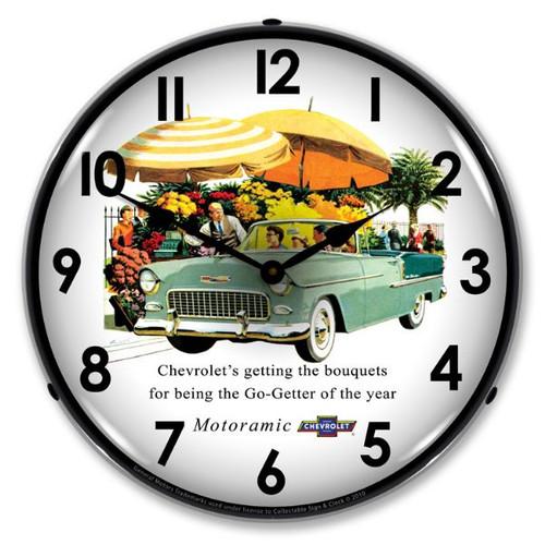 1955 Bel Air Convertible Lighted Wall Clock