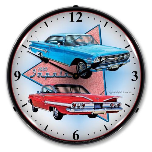 1960 Impala Lighted Wall Clock