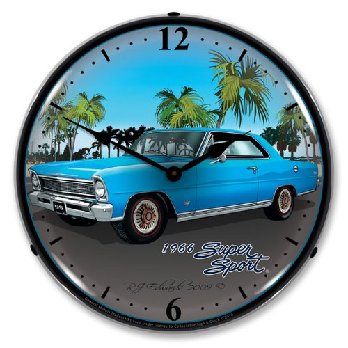 1966 Nova (blue) Lighted Wall Clock