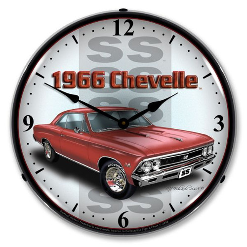 1966 SS Chevelle Lighted Wall Clock